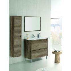 Conjunto con lavabo, espejo y mueble auxiliar Nordik