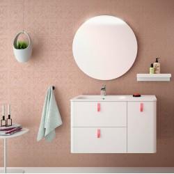 Mueble de baño y lavabo de 90 cm blanco