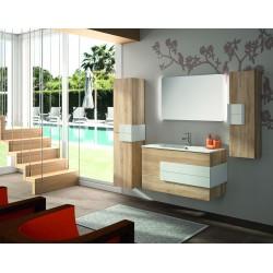Mueble de baño Cronos y lavabo color Roble
