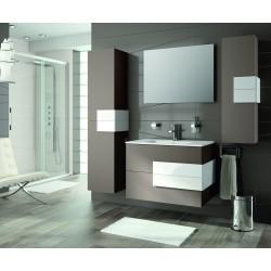 Mueble de baño Cronos y lavabo color Moka