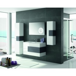 Conjunto de Mueble de baño Cronos, lavabo color Blanco
