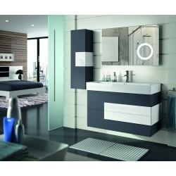 Conjunto de Mueble de baño Cronos, lavabo color Antracita