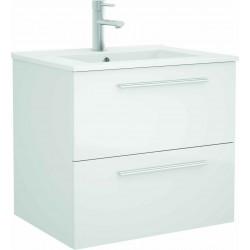 Mueble de baño color Blanco y lavabo Chrome de 70 cm