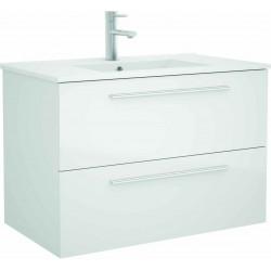Mueble de baño Blanco y lavabo Chrome de 80 cm
