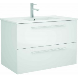 Mueble de baño color blanco y lavabo Chrome de 90 cm