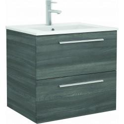 Mueble de baño color Alsacia y lavabo Chrome de 70 cm