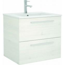 Mueble de baño color Sbiancato y lavabo Chrome de 70 cm
