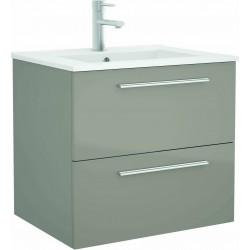 Mueble de baño color Taupe y lavabo Chrome de 70 cm