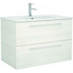 Mueble de baño Sbiancato y lavabo Chrome de 80 cm