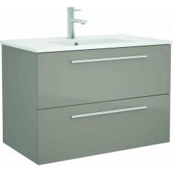 Mueble de baño Taupé y lavabo Chrome de 80 cm