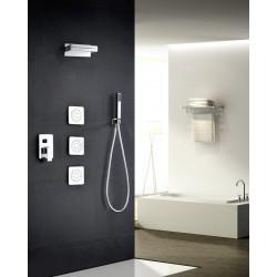 Griferia de ducha empotrada serie formentera