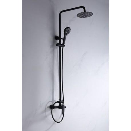 Barra de ducha negro mate serie roma