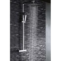 Barra de ducha cuadrada cromado serie fiyi