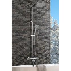 Barra de bañera / ducha termostatica cromo serie rhin