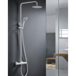 Barra de ducha termostatica blanco mate serie Londres
