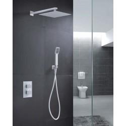 Conjunto de ducha empotrada termostatica blanco mate serie Cies