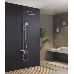 Barra de ducha monomando cromado serie Escocia