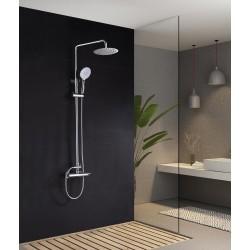 Barra de ducha monomando cromado serie Elba