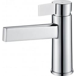 Grifo lavabo cromado/negro monomando serie Elba