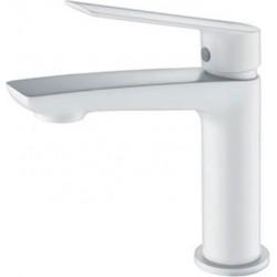 Grifo lavabo monomando blanco mate serie Luxor