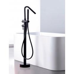 Cojunto de ducha monomnado negro mate serie corcega