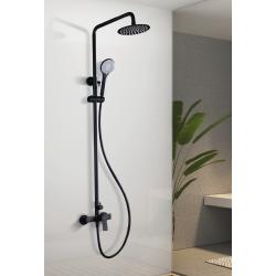 Columna de ducha negro mate monomando serie art