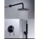 Conjunto de ducha empotrada negro mate serie Milos
