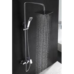 Barra de bañera extensible cromado serie florencia