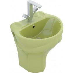 Lavabo Suspendido verde Coleccion Frogy
