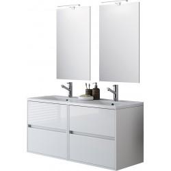 Móveis suspensos brancos quatro gavetas