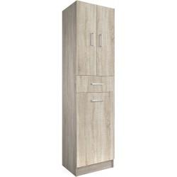 Armario Roble Caledonia 3 puertas y 1 cajón