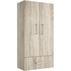 Guarda-roupa Suspensa Oak Colorado com 2 Portas e 1 Gaveta