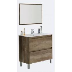 Mueble de 2 cajones, Lavabo y Espejo