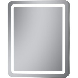Espejo LED frontal con esquinas redondeadas